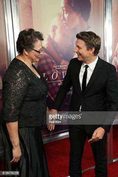 Peggy Loving Fortune and director Jeff Nichols attend the New York Premiere of Loving at Landmark Sunshine Theater on October 26 2016 in New York City