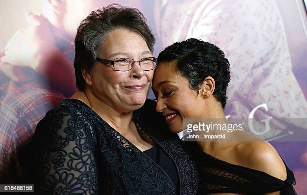 Peggy Loving Fortune and Ruth Negga attend the Loving New York Premiere at Landmark Sunshine Theater on October 26 2016 in New York City