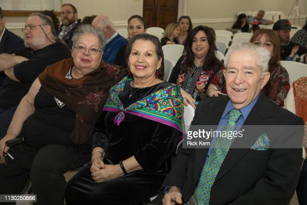 Peggy Luna and Rudy Luna attend the Marisol Deluna Foundation Community Fashion Show at the San Antonio Garden Center on February 16 2019 in San...