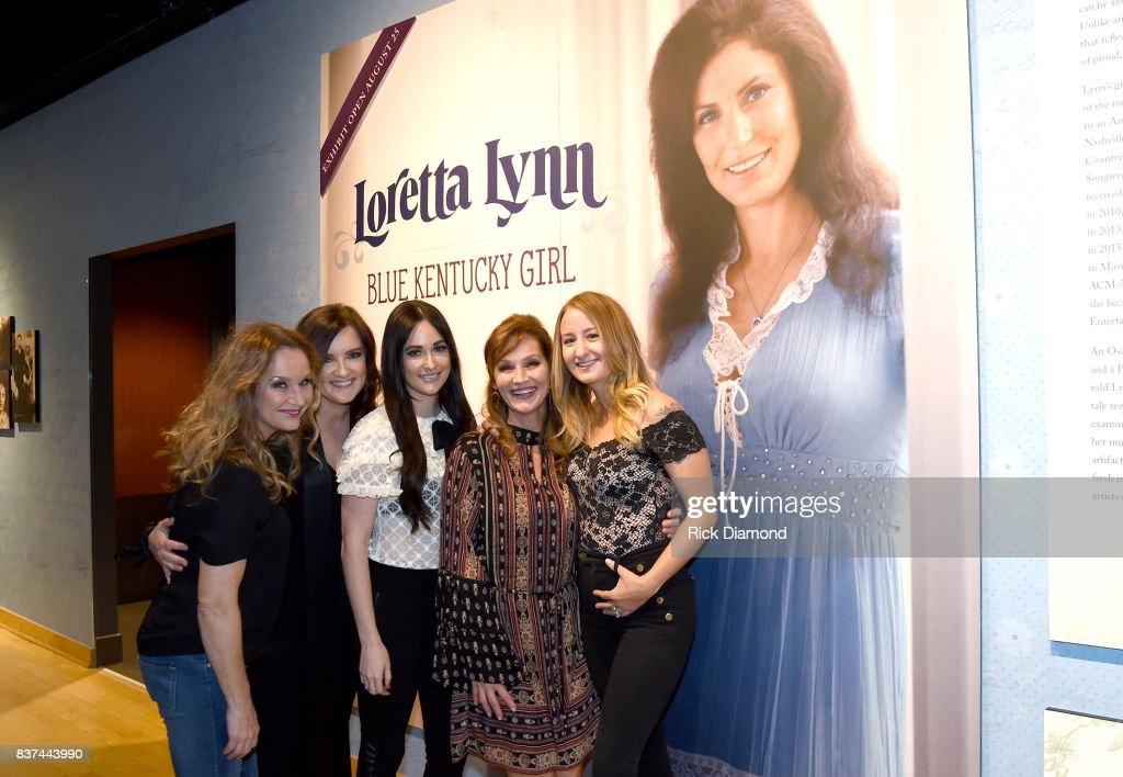 Peggy Lynn, Brandy Clark, Kacey Musgraves, Patsy Lynn Russell, and Margo Price attend the new exhibition Loretta Lynn: Blue Kentucky Girl at Country Music Hall of Fame and Museum on August 22, 2017 in Nashville, Tennessee.