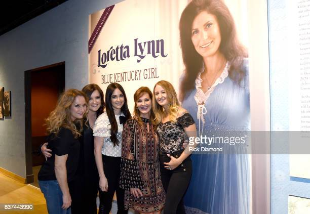 Peggy Lynn Brandy Clark Kacey Musgraves Patsy Lynn Russell and Margo Price attend the new exhibition Loretta Lynn Blue Kentucky Girl at Country Music...