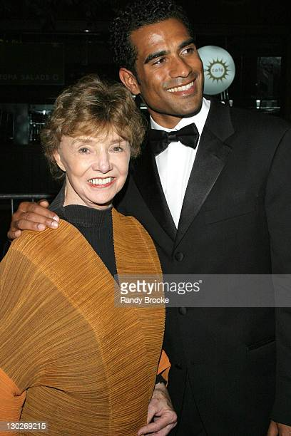 Peggy McCay and Rhasaan Orange during 31st Annual Daytime Emmy Awards Arrivals at Radio City Music Hall in New York City New York United States