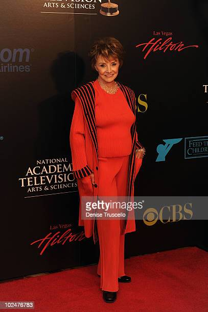 Peggy McCay arrives at the 37th Annual Daytime Emmy Awards at Las Vegas Hilton on June 27 2010 in Las Vegas Nevada