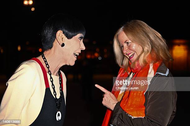 "Peggy Moffitt and Brooke Hodge attend the MOCA Leadership Circle reception and members' opening for ""The Total Look: The Creative Collaboration..."