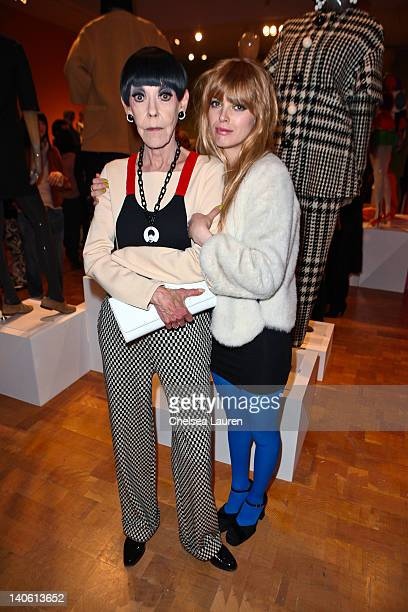 "Peggy Moffitt and Jhordan Dahl attend the MOCA Leadership Circle reception and members' opening for ""The Total Look: The Creative Collaboration..."