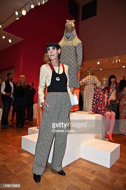 "Peggy Moffitt attends the MOCA Leadership Circle reception and members' opening for ""The Total Look: The Creative Collaboration Between Rudi..."