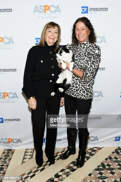 Peggy Musen Cat of the Year Honoree DOG and Nadine Wenig attend the ASPCA Hosts 2018 Humane Awards Luncheon at Cipriani 42nd Street on November 15...