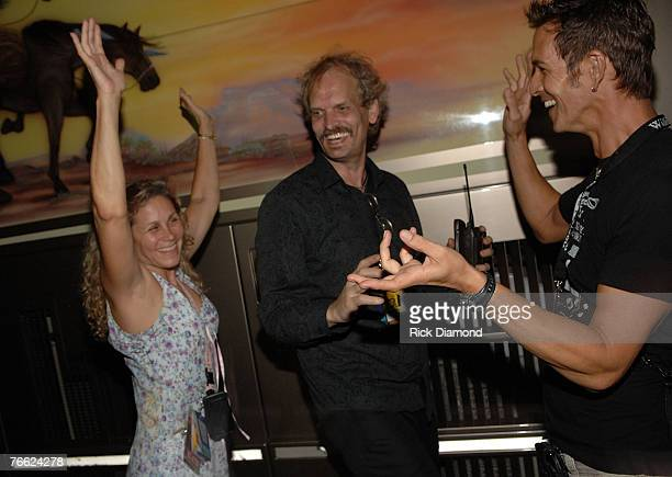 Peggy Nelson Dave and Guest dancing Backstage at Farm Aid 2007 AT ICAHN Stadium on Randall's Island NY September 92007