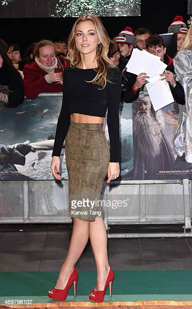 Peggy Nesbitt attends the World Premiere of 'The Hobbit The Battle OF The Five Armies' at Odeon Leicester Square on December 1 2014 in London England