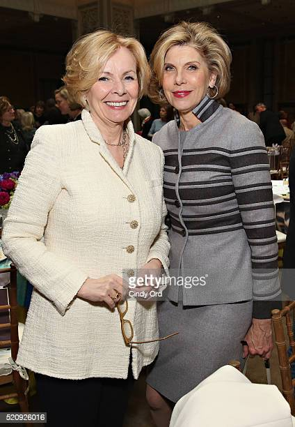 Peggy Noonan and actress Christine Baranski attend the New York Public Library Lunch 2016 A New York State of Mind at The New York Public Library...
