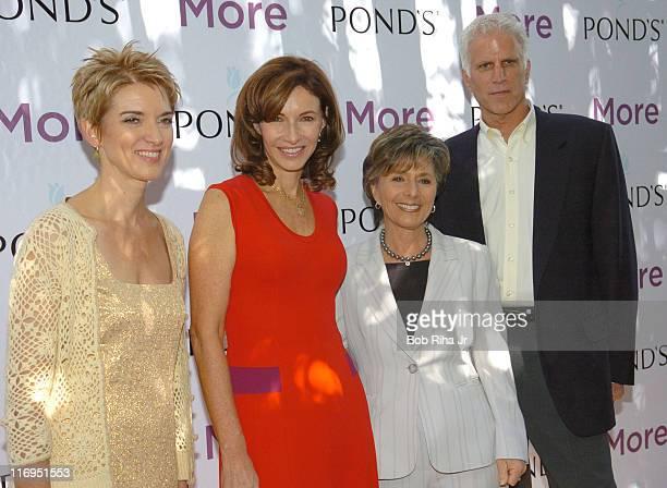 Peggy Northrop EditorinChief of More Magazine Mary Steenburgen Senator Barbara Boxer and Ted Danson