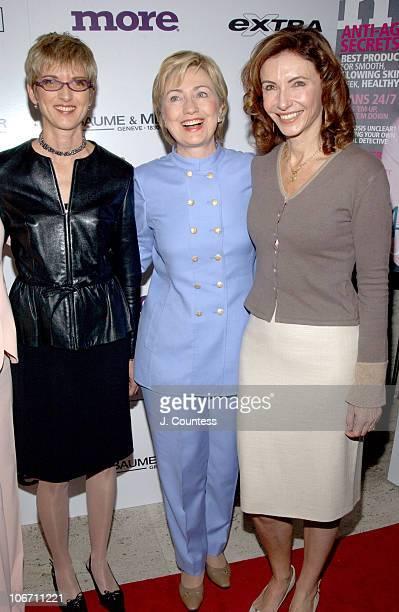 Peggy Northrop EditorInChief of MORE Magazine Senator Hillary Rodham Clinton and Mary Steenburgen