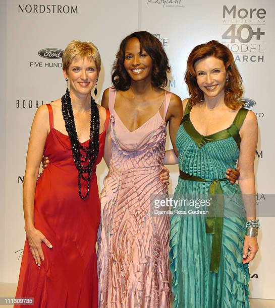 Peggy Northrop Thea Kelly and Mary Steenburgen during The Winners of the 6th Annual More Magazine Wilhelmina 40 Model Search at Cipriani in New York...