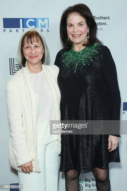 Peggy Rajski and Sherry Lansing attend Big Brothers Big Sisters Of Greater Los Angeles Big Bash Gala arrivals at The Beverly Hilton Hotel on October...