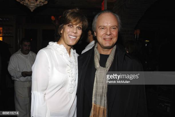 Peggy Siegal and Julian Lethbridge attend CLIFFORD ROSS postopening dinner at Morandi Restaurant on October 24 2009 in New York City