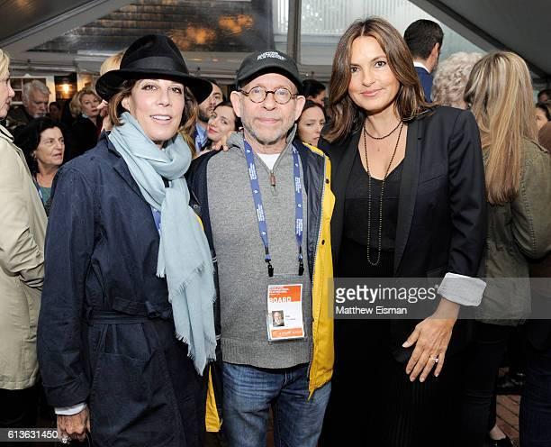 Peggy Siegal Bob Balaban and Mariska Hargitay attend the Chairman's Reception during the Hamptons International Film Festival 2016 at Stuart Match...