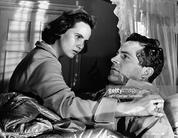 Peggy Stephenson comforts Fred Derry in a scene from the 1946 film The Best Years of Our Lives