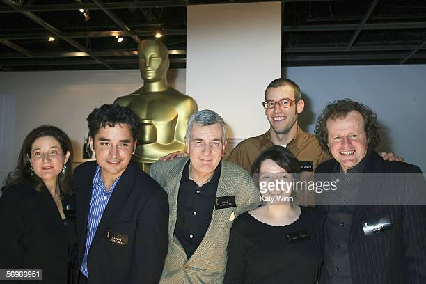 Peggy Stern Andrew Jimenez John Canemaker Shane Acker Sharon Coleman and Andrew Lucas attend The 78th Academy Awards Nominated Shorts Reception...