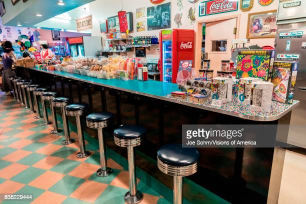Peggy Sue's Americana Route 66 inspired diner in Yermo California about eight miles outside of Barstow