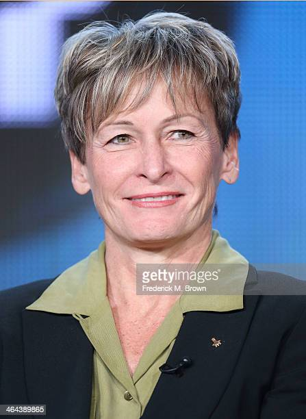 Peggy Whitson NASA astronaut speaks onstage during the 'Makers Women Who Make America 'Business' 'Comedy' 'Hollywood' 'Politics' Space' and 'War' '...