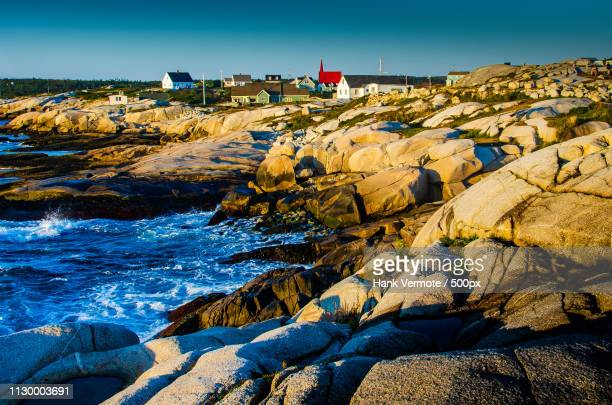 peggy's cove coastal terrain - hank vermote stock pictures, royalty-free photos & images