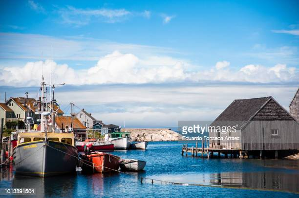 peggy's cove fishing village - atlantic ocean stock pictures, royalty-free photos & images