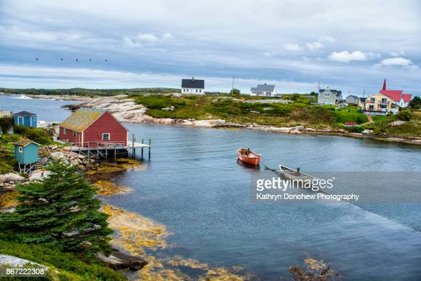 peggy's cove- halifax nova scotia - nova scotia stock pictures, royalty-free photos & images