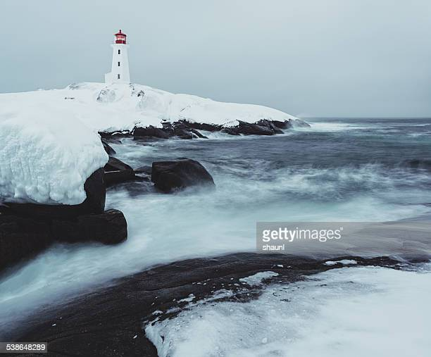 Peggy's Cove Lighthouse on Ice