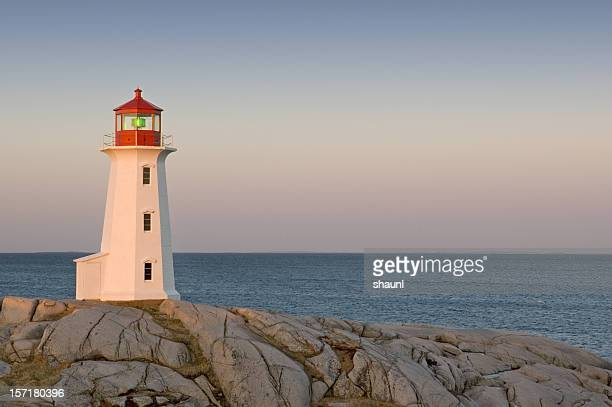 peggy's cove lighthouse - east stock pictures, royalty-free photos & images