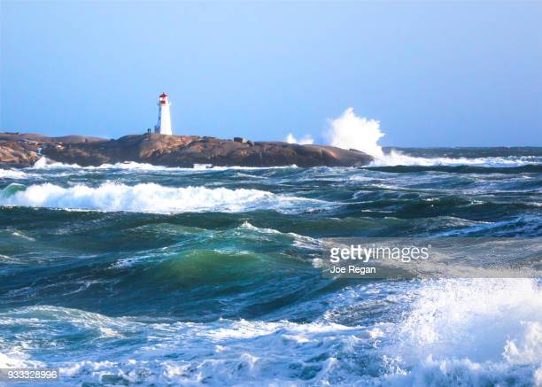 peggy's cove lighthouse - halifax nova scotia stock pictures, royalty-free photos & images