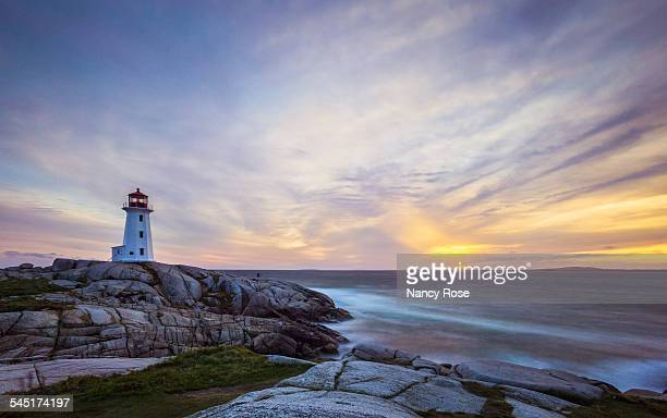 peggy's cove long exposure - atlantic ocean stock pictures, royalty-free photos & images