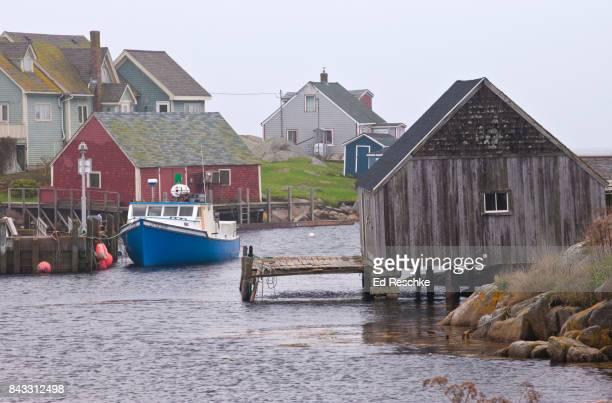 Peggy's Cove, Nova Scotia--Boats, Docks and Village