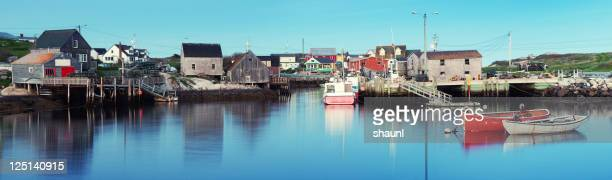peggy's cove panoramic - fishing village stock pictures, royalty-free photos & images
