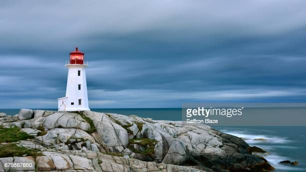 Peggy's Point Lighthouse in Peggy's Cove Nova Scotia