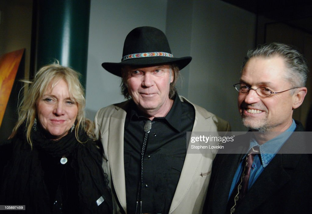 Pegi Young, Neil Young, and Jonathan Demme during New York Special Screening of 'Neil Young: Heart of Gold' at Walter Reade Theatre at Lincoln Center in New York City, New York, United States.