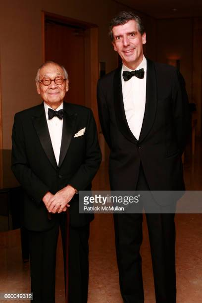 M Pei and Henri Loyrette attend American Friends of The Louvre Honor IM PEI And The 20th Anniversary of The Pyramid at The Four Seasons Hotel on May...