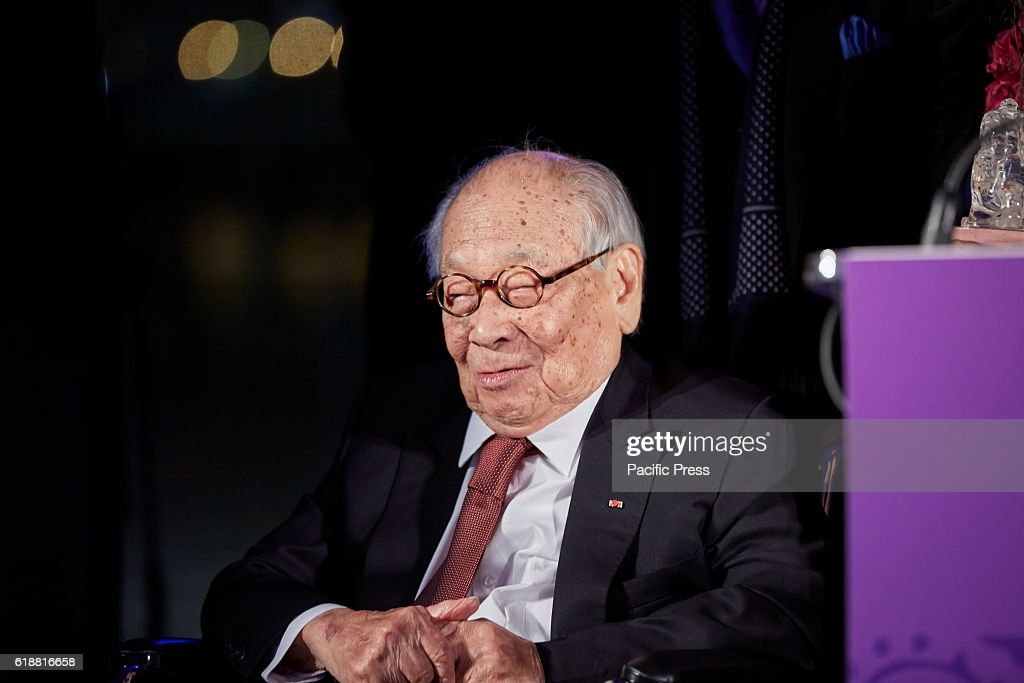 I.M. Pei, receives Lifetime Achievement Award at the  2016... : News Photo