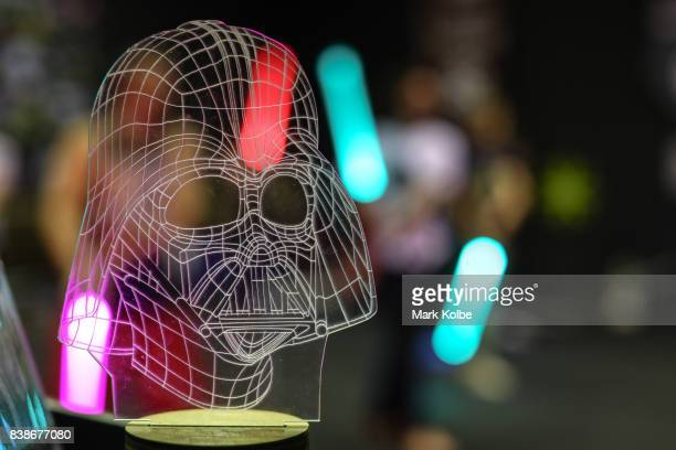 A peice Darth Vader memoribilla is seen as students take part in a training class at the Sons of Obiwan Saber Academy on June 27 2017 in Sydney...