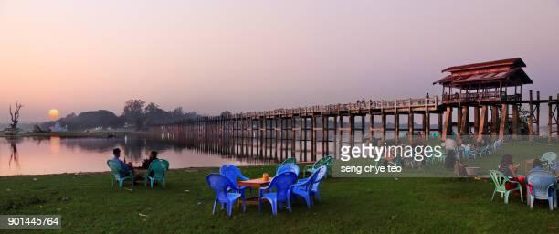 U Pein Bridge in the Evening