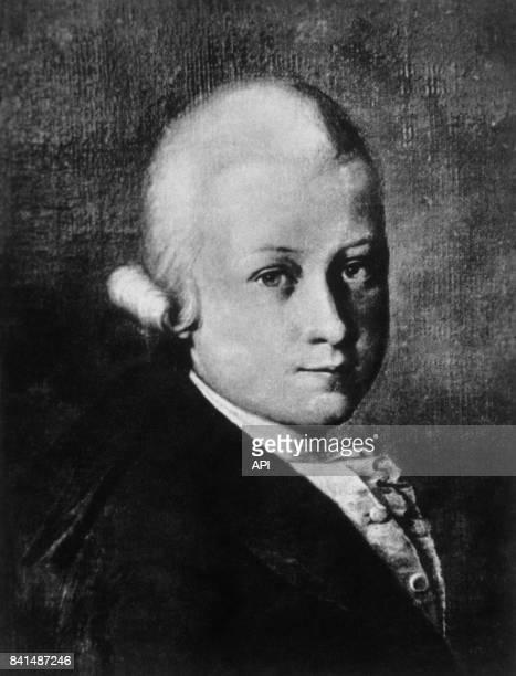 Peinture représentant le compositeur autrichien Wolfgang Amadeus Mozart