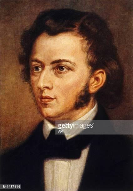 Peinture représentant le compositeur et pianiste Frédéric Chopin