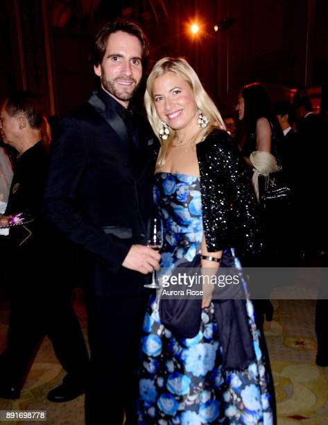 Peio Cuevas and Elizabeth Jacoby attend Casita's Fiesta 2017 at The Plaza Hotel on October 17 2017 in New York City