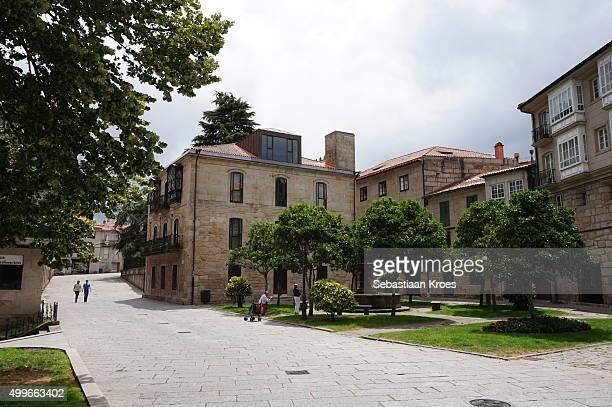 peirao square, pontevedra, galicia, spain - provincia di pontevedra foto e immagini stock