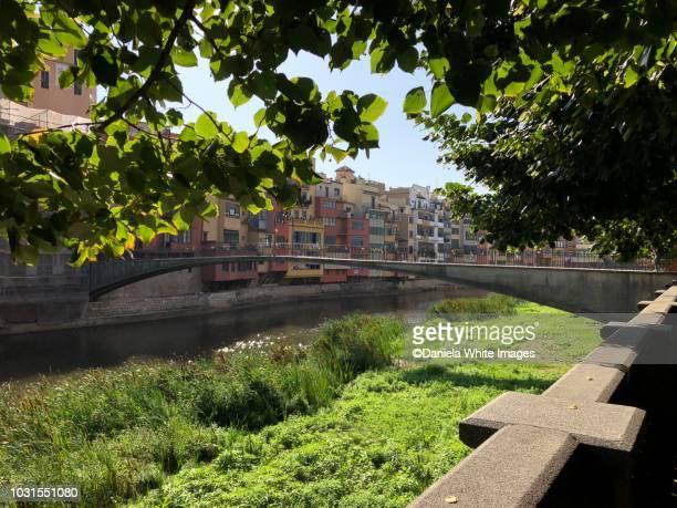 peixaterie velles bridge - gerona city stock pictures, royalty-free photos & images