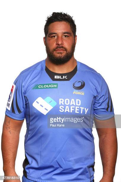 Pekahou Cowan poses during a Western Force Super Rugby headshots session at the Rugby WA office on April 27 2017 in Perth Australia