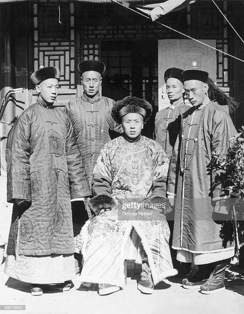 Group portrait of Manchu men, the type of people who rule