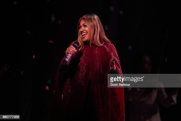 Peking Duck perform on stage with Jessica Mauboy during the 31st Annual ARIA Awards 2017 at The Star on November 28 2017 in Sydney Australia