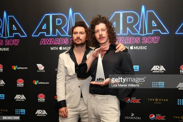 Peking Duk pose in awards room with an ARIA for Song of the Year during the 31st Annual ARIA Awards 2017 at The Star on November 28 2017 in Sydney...