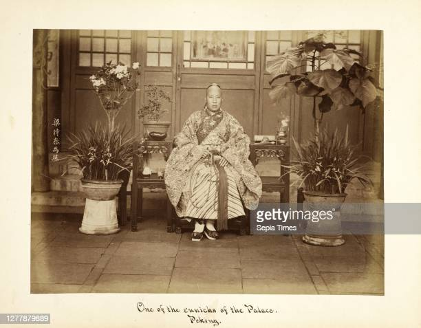 Peking, One of the eunuchs of the Palace, Peking, Portraits of Chinese court figures, Liang, Shitai, 1860-1879.