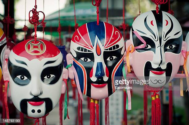 peking opera facial makeup - chinese music stock pictures, royalty-free photos & images